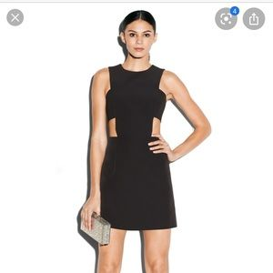 Milly Cut Out Mini Dress in Black